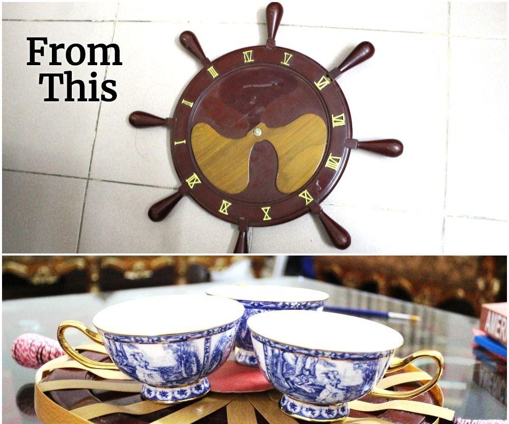 Turn a Dead Clock Into a Fancy Tray!
