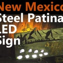 Steel Patina Sign With LEDs