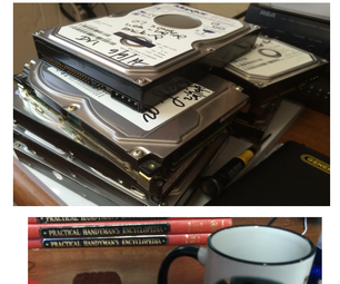 Vanity Mirrors and Coffee Cup Coasters From Old Hard Drives