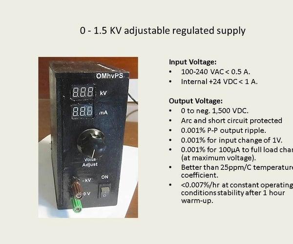 High Voltage Power Supply (0 - 1,500 V)