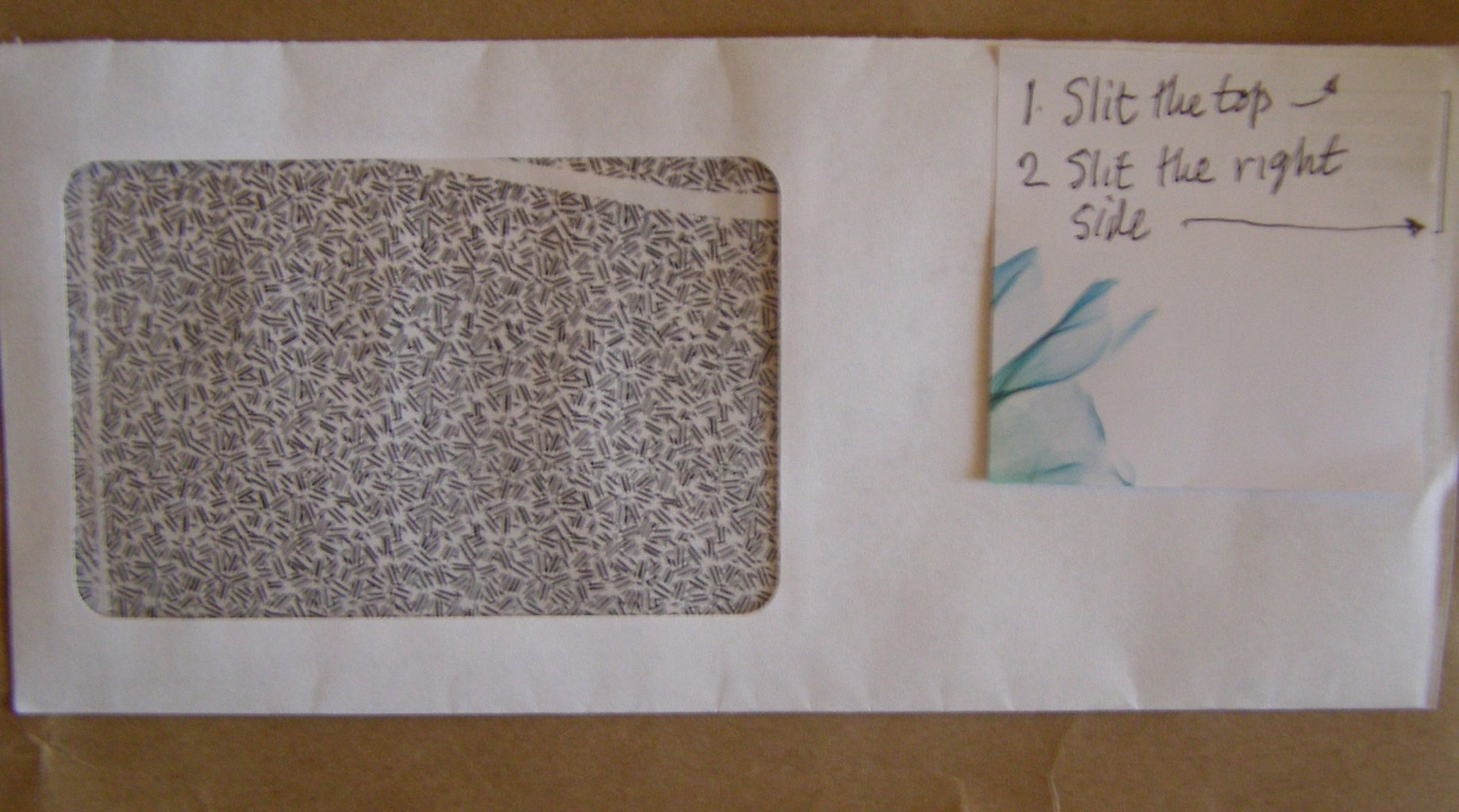 Open the Envelope
