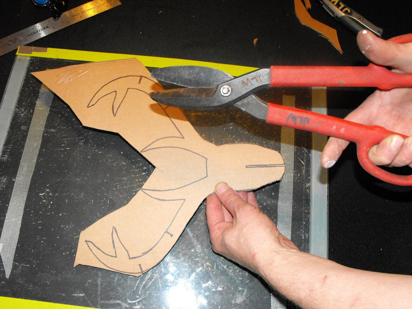 Cut Out All Pieces From Cardboard