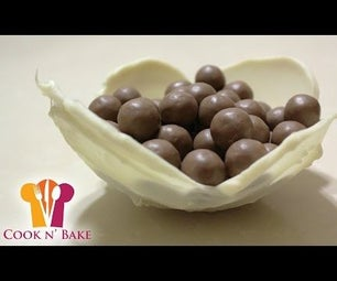 White Chocolate Cups With Balloon - Cook N' Bake