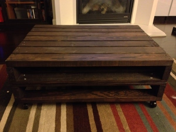 Pallet Coffee Table With Storage Cubby