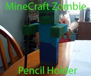 MineCraft Zombie - Pencil/Pen Holder