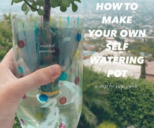 Self-Watering Recycled Planter