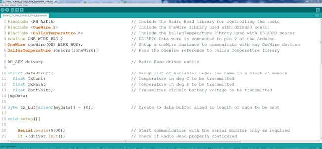 Arduino Code for the Final Build Rx and Tx
