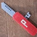 Perler Bead 3D Pocket Knife