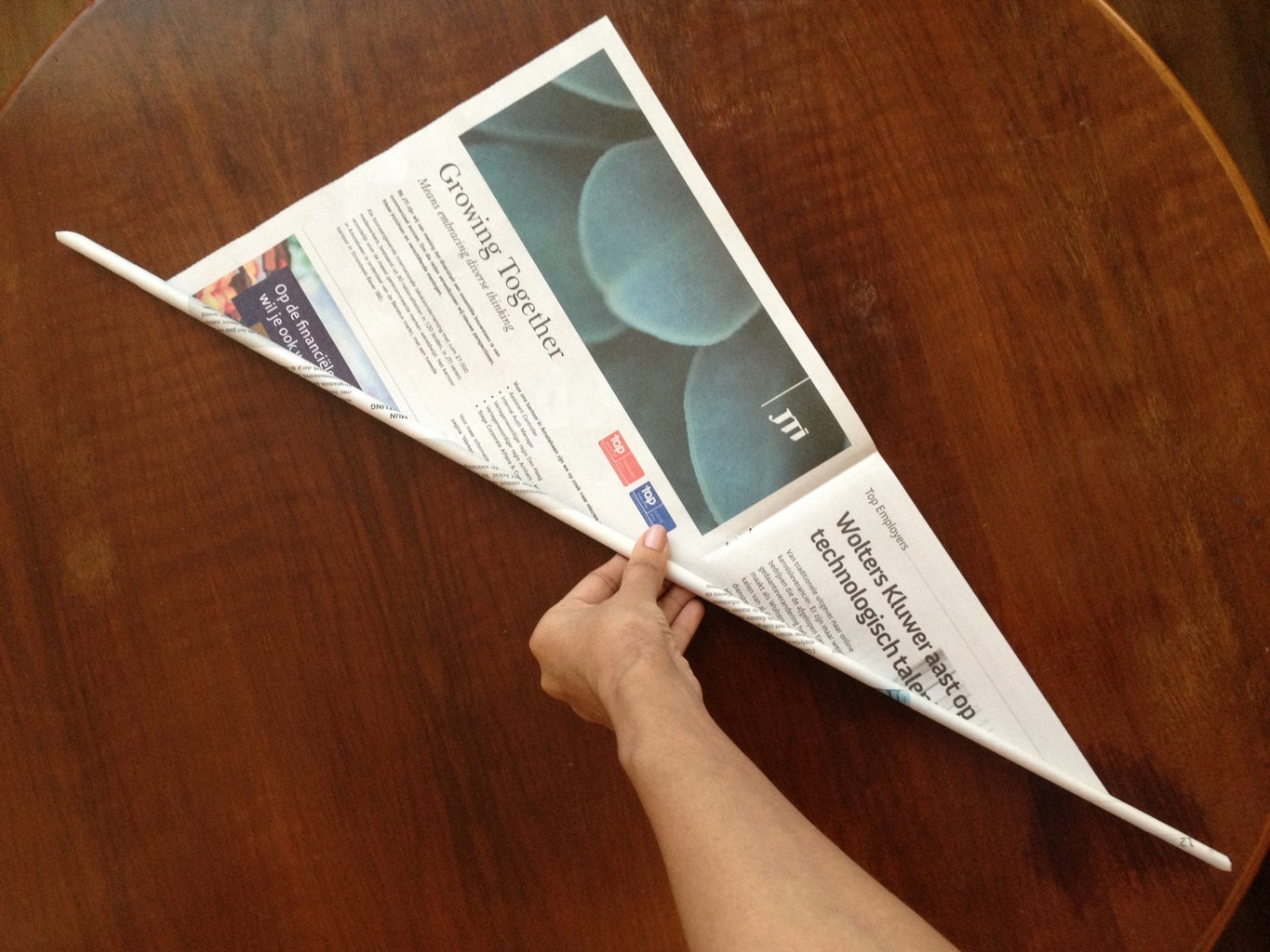 Making Tubes Out of Newspaper