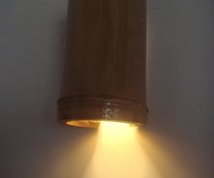Simple Bamboo Lamp Shades (wall & hang)