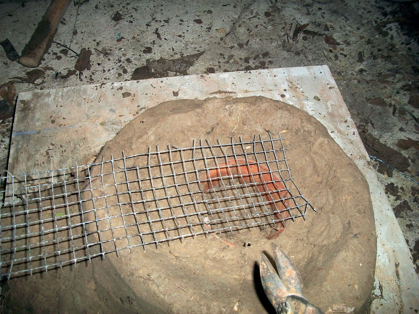 Cleaning Up the Surface and Making a Fire Grate