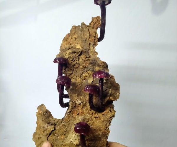 Mushroom Lamp Simulation in Tinkercad