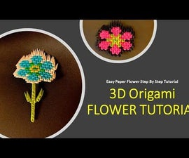 3D Origami Flower - Easy Paper Flower