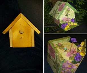 Scrapbook Paper Decorated Birdhouse
