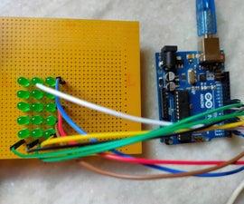 5X3 MATRIX DISPLAY USING LEDs AND CONTROL IT USING ARDUINO