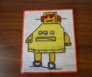 Instructables Robot Plastic Canvas!