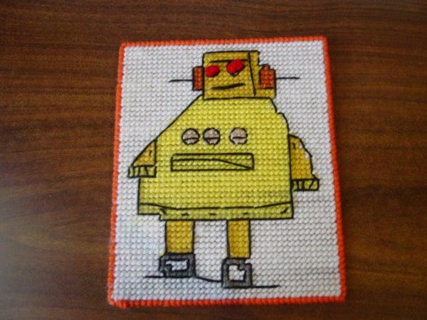 Instructables Robot Plastic Canvas!