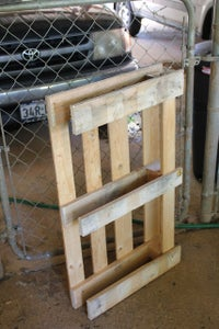 Use the Leftover Pallet Pieces to Make the Back of Your Furniture