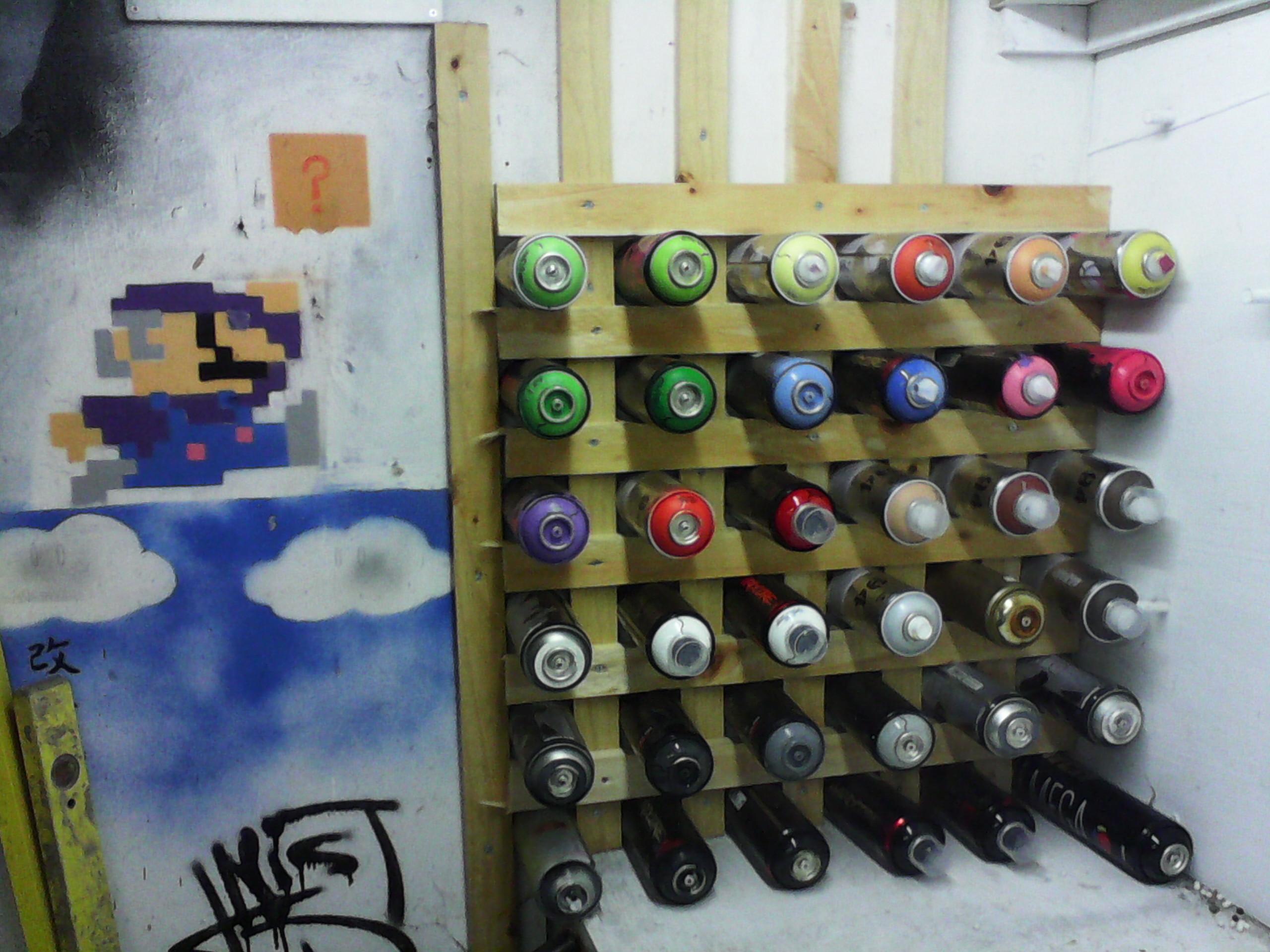 Spray Paint/Can Rack
