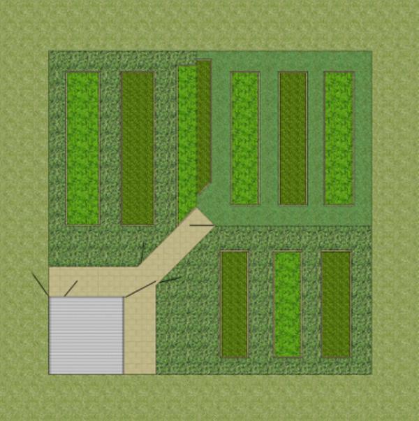 Fully-enclosed Crop-rotation Veggie Garden