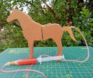 Easy Cardboard Running Horse