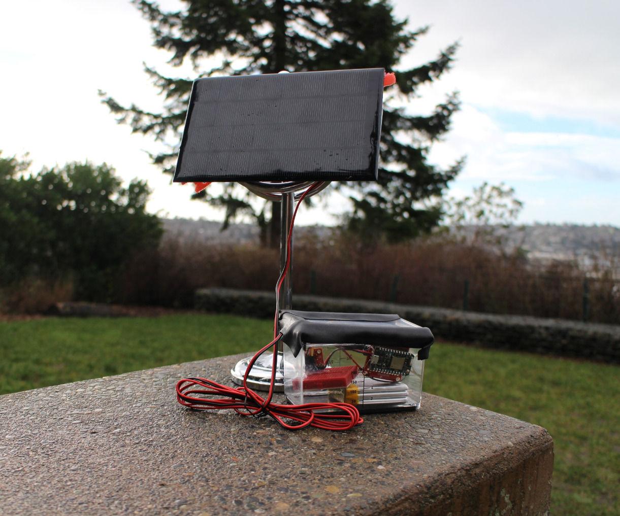 Solar Powered Remote Temperature Sensor
