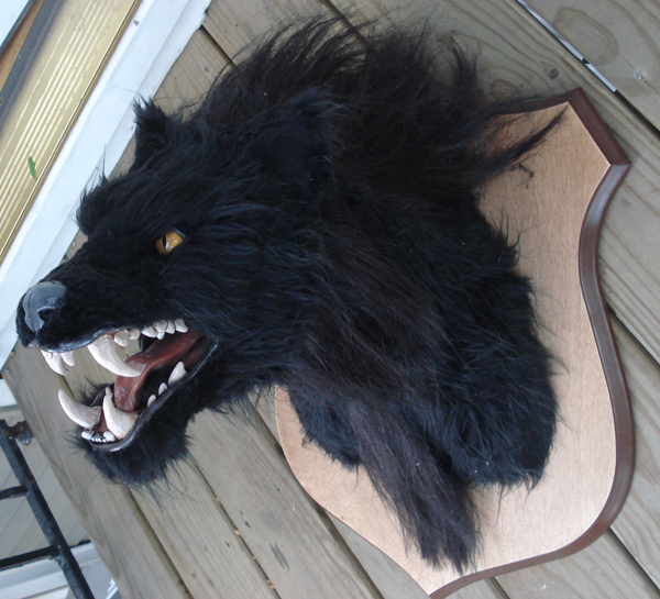 Halloween decor werewolf head