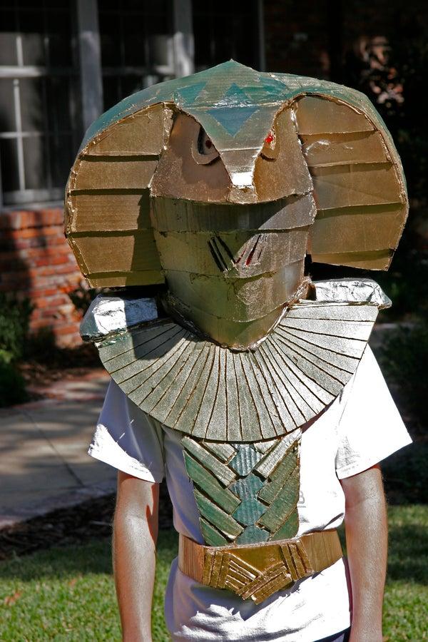 Cardboard Jaffa Serpent Gaurd Costume