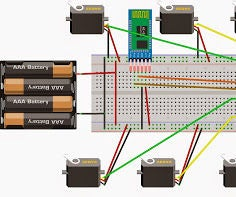 Control Multiple Servo Motors From Android and Arduino