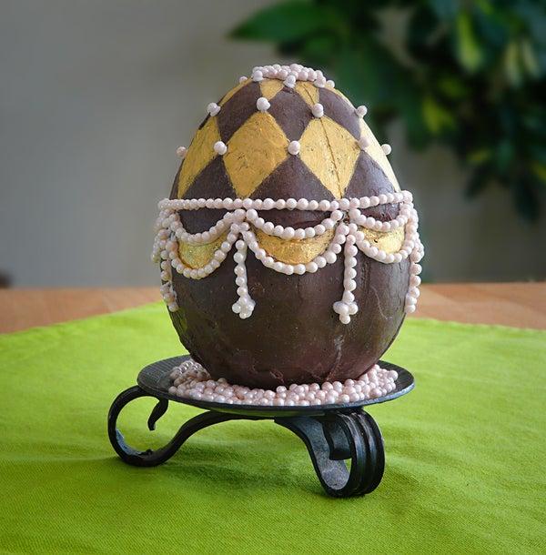 Nested Chocolate Faberge Egg Engagement Ring Presentation