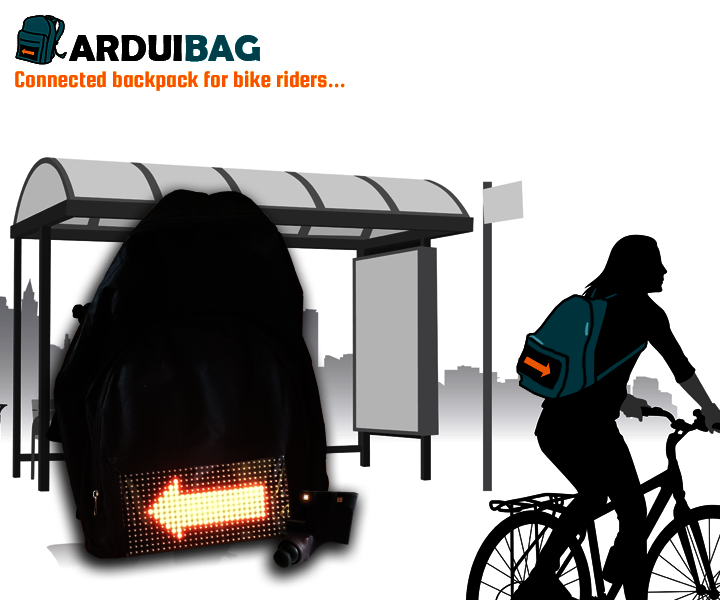 Arduibag: a connected backpack for bike riders