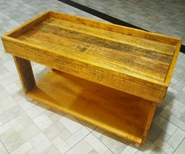 Reclaimed Pallet and Plywood All Purpose Table
