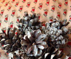 Pine Cone Mini-wreath and Candle Collar