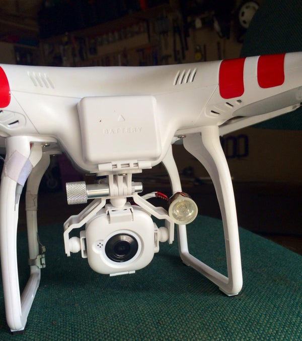 Drone (quad) Search Light for Night Flying