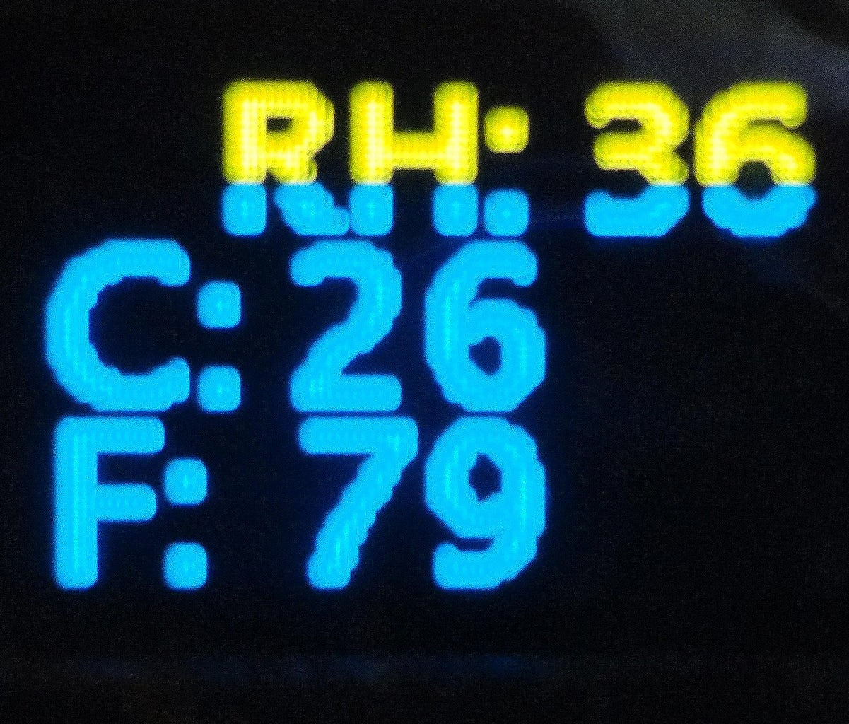 Experiment-3  Humidity and Temperature and Displayed on OLED