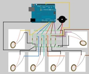 Arduino Piano With Piezoelectric Sensors