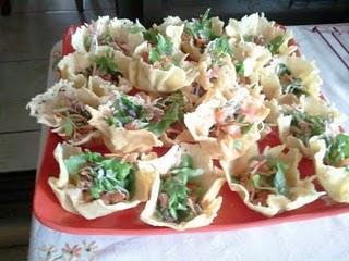 Salad in a Parmesan Basket