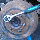 Rear brake drum removal tutorial Toyota Hilux, Surf MK3