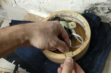 Gluing the Power Switch