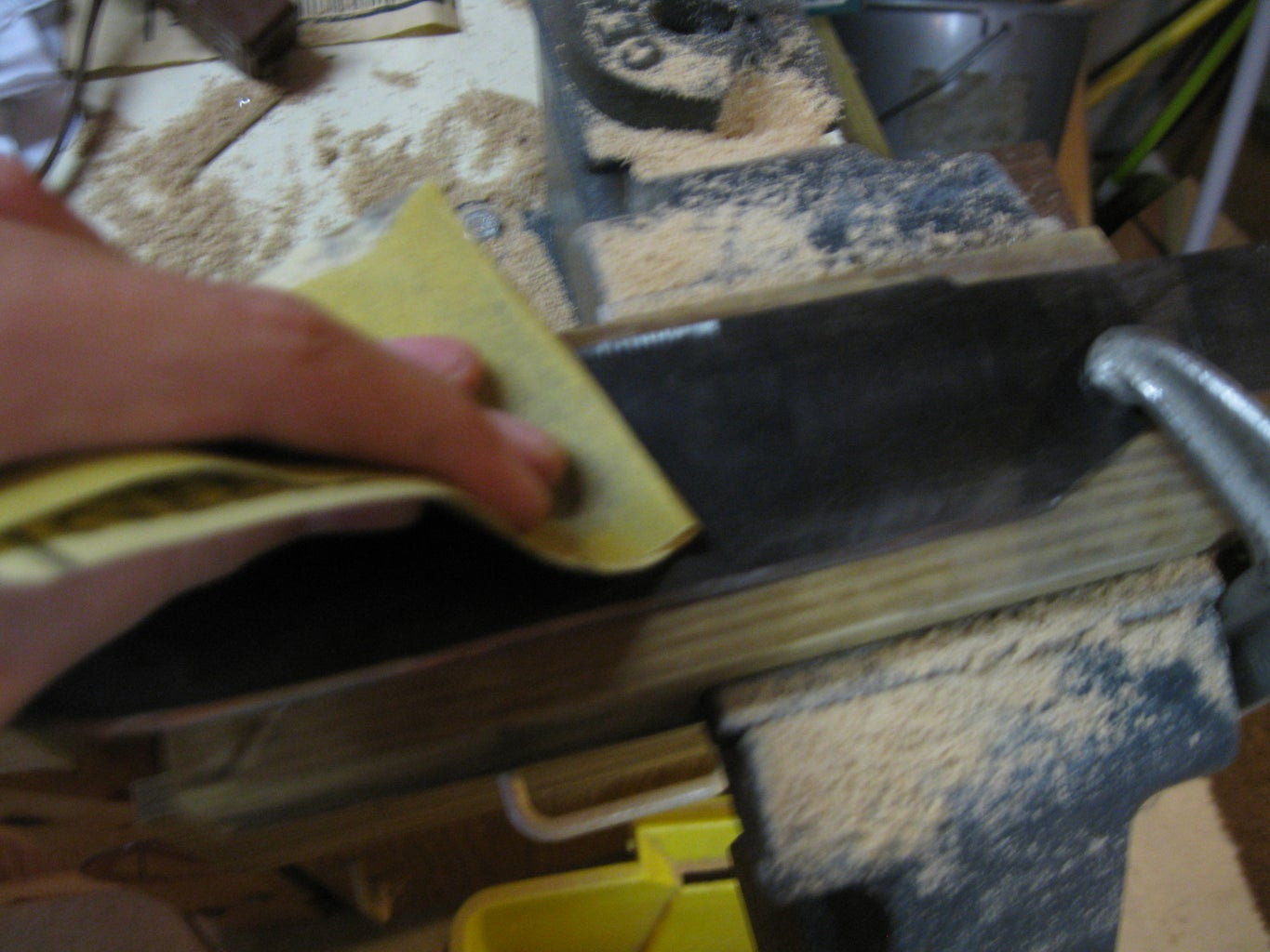 Making the Blade: Rust Removal and Finishing