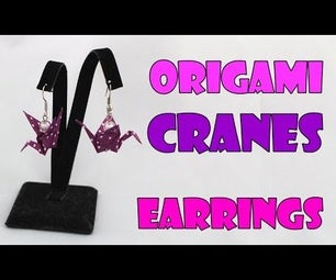 Paper Earrings Cranes/Swans (Origami Jewelry)