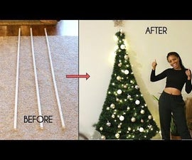 DIY Space-Saving PVC Pipe Christmas Tree