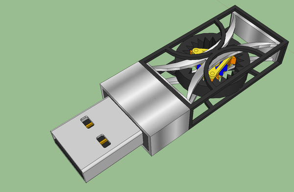 3D Printed Mechanical Flash Drive
