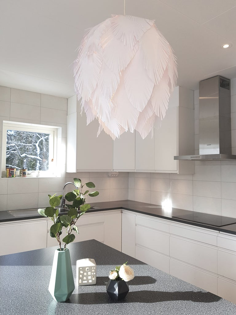 Paper Feather Lamp