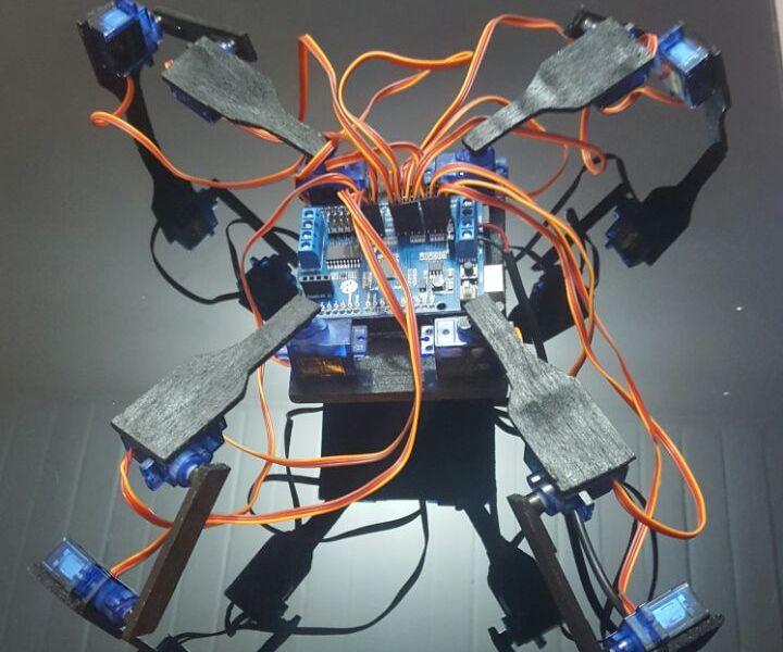Spider Robot With Arduino - Araña Robótica Con Arduino