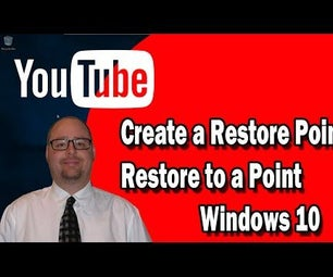 Create a Restore Point in Windows 10 / Restore a Restore Point