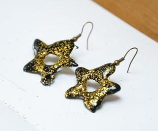 DIY Hot Glue Stars - 3 Ways! | Earrings & Decorations