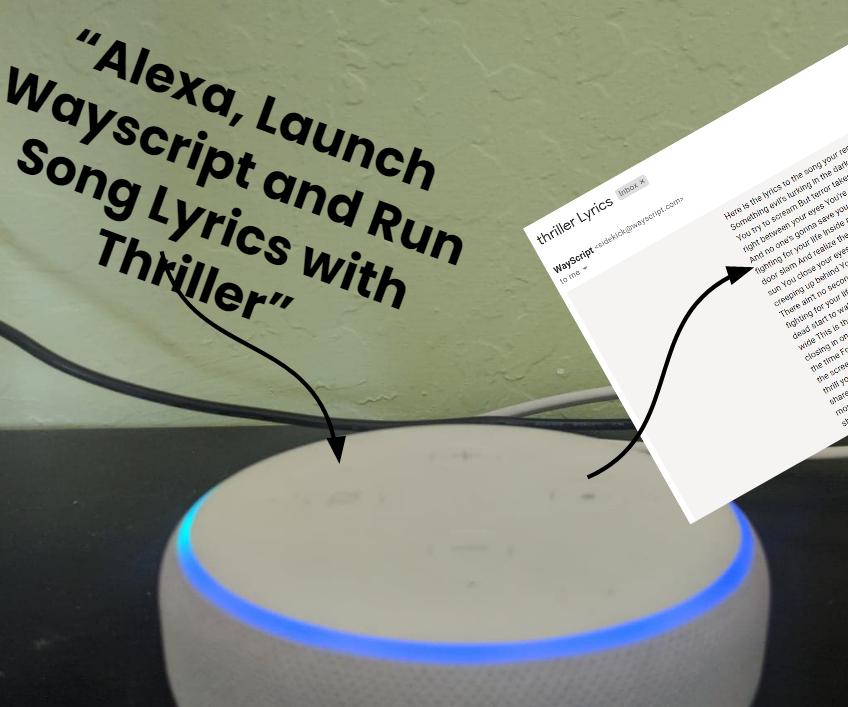 """Alexa, Send Me the Lyrics to _____"""