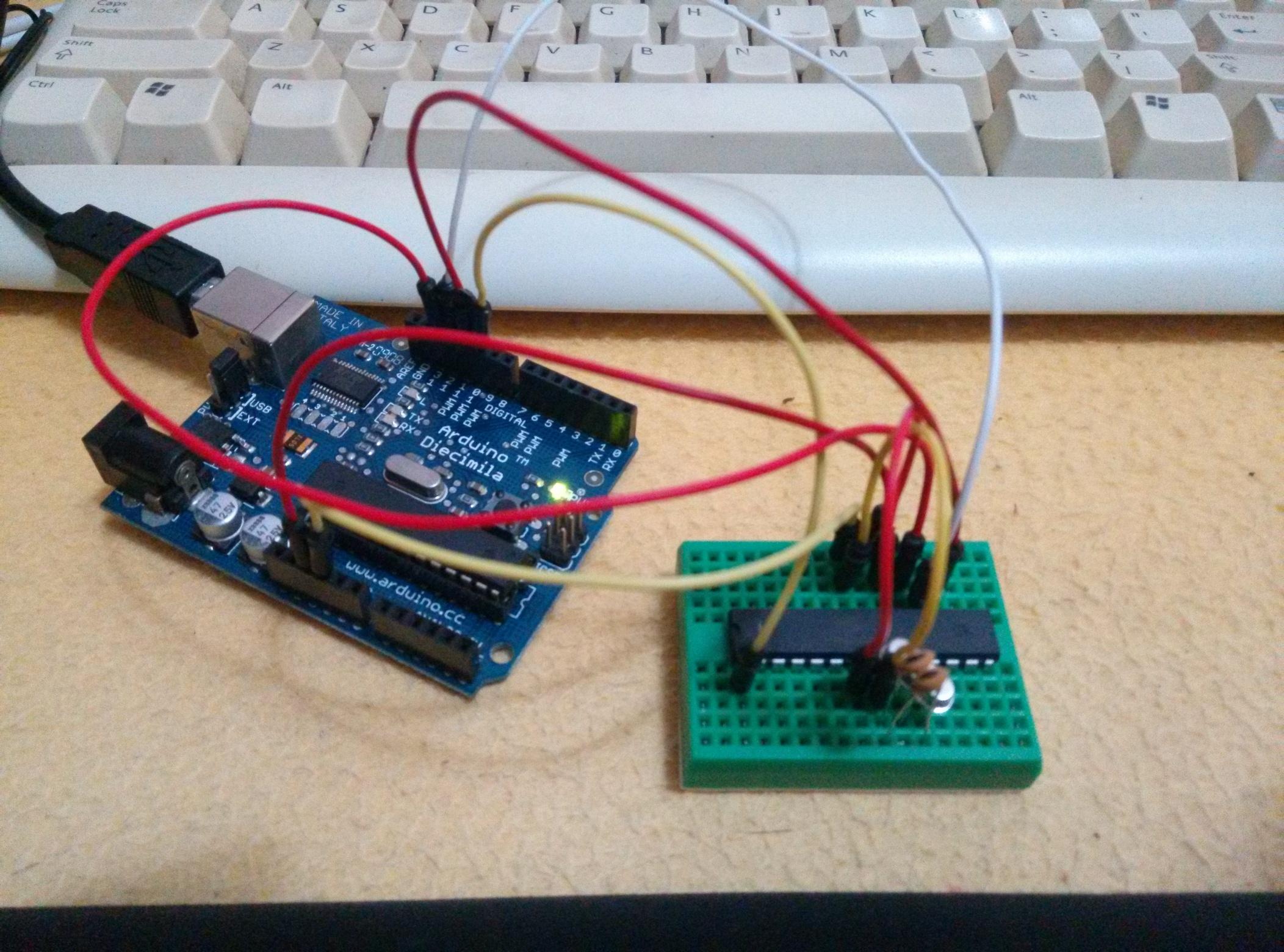 Burn BootLoader into Atmega328P using Arduino Diecimila