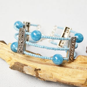 Beebeecraft Tutorials on Making Gemstone Beads Bangle